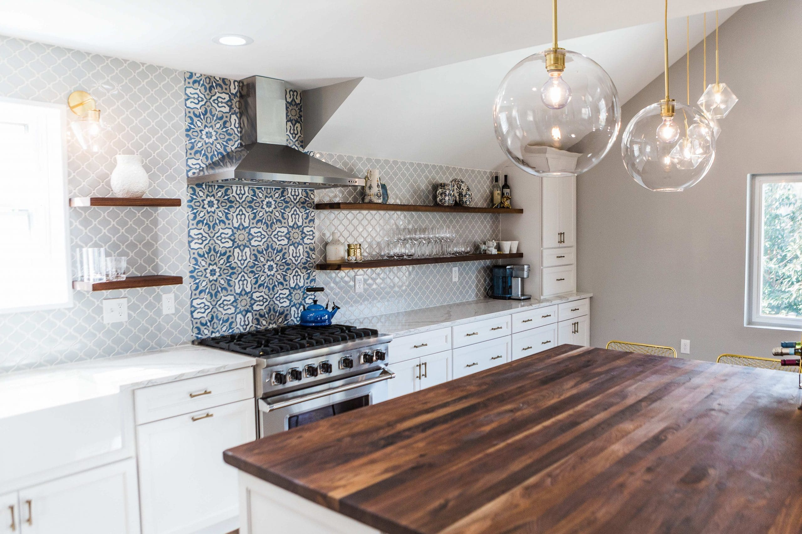 Patterned Kitchen Back Splash