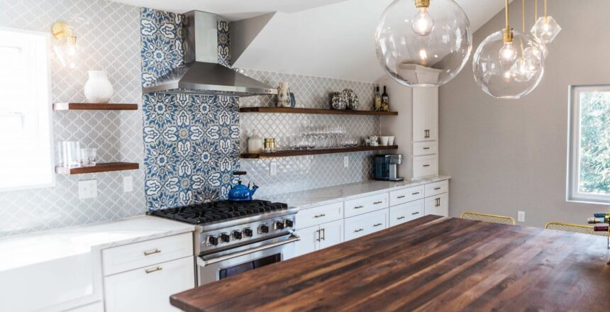 Patterned Kitchen Back Splash